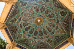 Tomb of Hafez ceiling mosaic Royalty Free Stock Photos
