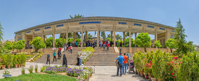 Tomb of Hafez poet panoramic view Stock Images
