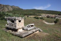 Tomb in Hierapolis, Denizli, Turkey Royalty Free Stock Photos