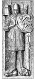 Hohenlohe knight, sculpture on a grave vector illustration