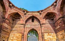 Tomb of Iltutmish at Qutb Complex in Delhi, India. Tomb of Iltutmish at Qutb Complex in Delhi. A world heritage site in India Royalty Free Stock Photo