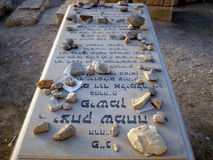 Tomb In Mount Of Olives Jewish Cemetery, Jerusalem Stock Photo