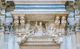 Tomb of Innocent X by Maini in the Church of Sant`Agnese in Agone in Rome, Italy. stock photo