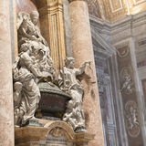 The tomb of Innocent XII in Saint Peter's Basilica. Vatican.Rome Stock Photography