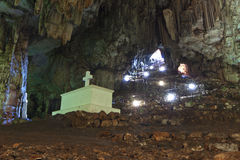 Tomb inside a cave at Crete, Greece Royalty Free Stock Photography
