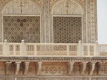 Tomb of Itimad-ud-Daul, the details near small Taj Mahal, Agra, India stock photography