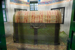 Tomb of Jacob. HEBRON, ISRAEL, 10 OCT, 2014: The tomb of patriarch Jacob seen through bars. The tombs of the patriarchs are situated in the Cave of Machpelah in Stock Images