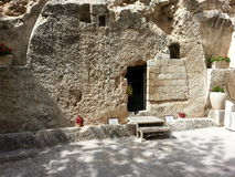 The tomb of Jesus Christ at Calvary or Golgotha at Garden Tobm Royalty Free Stock Photos