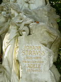 Tomb of Johann Strauss Son Royalty Free Stock Images
