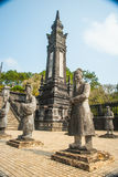 Tomb of Khai Dinh emperor in Hue, Vietnam Royalty Free Stock Photos