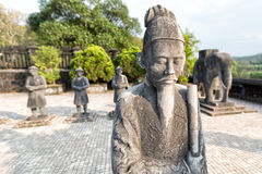 Tomb of Khai Dinh emperor in Hue, Vietnam. Royalty Free Stock Photo
