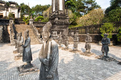 Tomb of Khai Dinh emperor in Hue, Vietnam. Royalty Free Stock Images