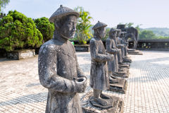 Tomb of Khai Dinh emperor in Hue, Vietnam. Stock Photos