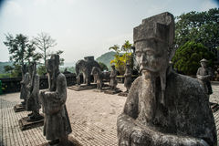 Tomb of Khai Dinh emperor in Hue, Vietnam Royalty Free Stock Photo