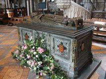 Tomb of King John of England, Worcester Cathedral Stock Images