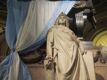 Tomb of the liberator San Martin. Stock Photo