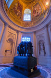 Tomb of Marechal Foch. The tomb of marechal Foch inside Les Invalides. History of France in WW1 Stock Image