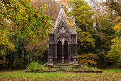 Tomb of the marquis Cahen in the Sasseto woods Stock Photos