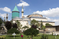 Tomb of Mevlana, the founder of Mevlevi sufi dervish order Royalty Free Stock Photo