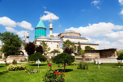 Tomb of Mevlana, the founder of Mevlevi sufi dervish order Stock Photos