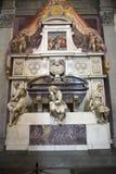 Tomb of Michelangelo di Lodovico Buonarroti Simoni in the Basilica of Santa Croce, Florence, Italy, Europe Stock Photos