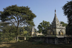 Tomb of Mindon Min King in Mandalay, Myanmar (Burma) Royalty Free Stock Photo
