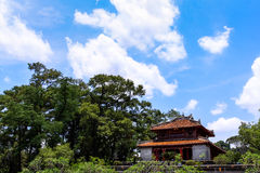 Tomb of Minh Mang. The Tomb is 12km form Hue, on Cam Ke mount, near Bang Lang fork, on the west bank of the Perfume River Royalty Free Stock Image