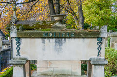 Tomb of Moliere in Pere Lachaise Cemetery Stock Image