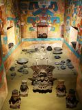 Tomb 104 from Monte Alban, Oaxaca, Mexico - National Museum of Anthropology royalty free stock images