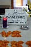 Tomb of Mother Teresa in Kolkata Royalty Free Stock Photos