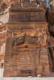 Tomb in nabatean city of  petra jordan Royalty Free Stock Image