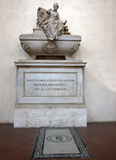 Tomb of Niccolo Machiavelli in Basilica of Santa Croce, Florence Stock Images