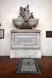 Tomb of Niccolo Machiavelli in Florence Royalty Free Stock Image