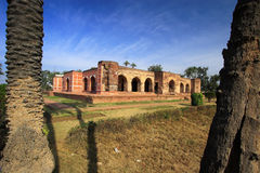 Tomb of Noor Jehan. A panoramic view of front and back side of the Tomb of Noor Jehan, one of the tombs from The Mughal Era in Indo Pakistan Stock Photo