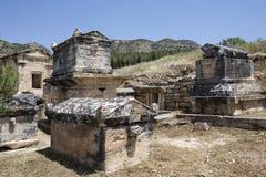 Tomb in Northern Necropolis of Hierapoli, Denizli, Turkey Stock Images