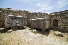 Tomb in Northern Necropolis of Hierapoli, Denizli, Turkey Stock Photo