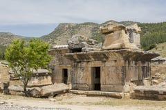 Tomb in Northern Necropolis of Hierapoli, Denizli, Turkey Royalty Free Stock Photo