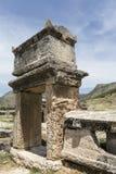 Tomb in northern necropolis of Hierapolis, Denizli, Turkey Royalty Free Stock Photos