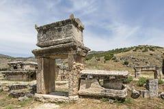 Tomb in northern necropolis of Hierapolis, Denizli, Turkey Royalty Free Stock Image