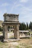 Tomb in northern necropolis of Hierapolis, Denizli, Turkey Stock Images