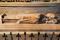 The tomb in the Notre Dame de Paris Stock Photography