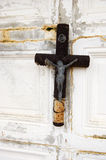Tomb with old cross Stock Images