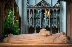 Tomb of Osric, anglo-saxon King of the Hwicce, in Gloucester Cat. Gloucester, United Kingdom - June 8, 2013: View of tomb of Osric, anglo-saxon King of the Royalty Free Stock Photography