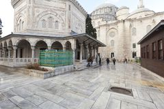 Tomb of the Ottoman sultan Suleiman the Magnificent in Suleymaniye mosque Stock Image