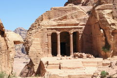 Tomb at Petra. One of many tombs in Petra, Jordan stock photography