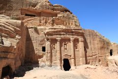 Tomb in Petra. Stock Photos