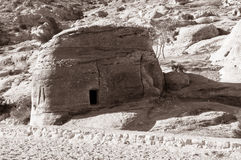 Tomb in Petra. This image was taken in Petra, Jordan. Petra is the must visiting destination and hiking point when you travel to Jordan. An ancient and Royalty Free Stock Photos