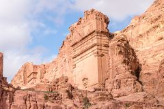 Tomb 808 at Petra, Jordan. Petra is one of the New Seven Wonders of the World.  stock image
