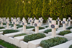 Tomb of Polish military in Lviv, on Lychakiv Cemetery Royalty Free Stock Photos