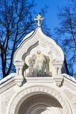 Tomb of Pozharsky in Monastery St Euthymius. Top of Tomb of Prince Dmitry Mikhailovich Pozharsky in Monastery of Our Savior and St Euthymius in Suzdal town in Stock Photos